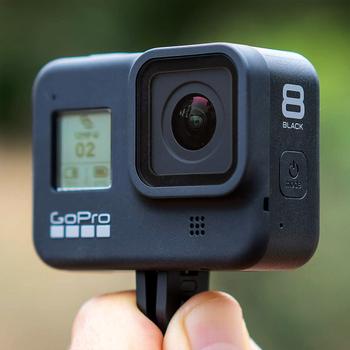 Rent GoPro Hero 8 Black w/ 128gb SD card & 2 Batteries & headstrap & mounts