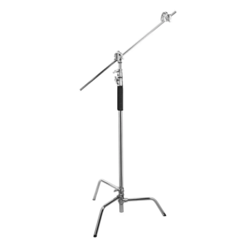 """Rent 5X C-Stands 40"""" w/ removable turtle base, arm & knuckle"""