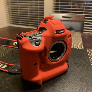 Rent Canon 1DX Mk II with sillicone case and neck strap.