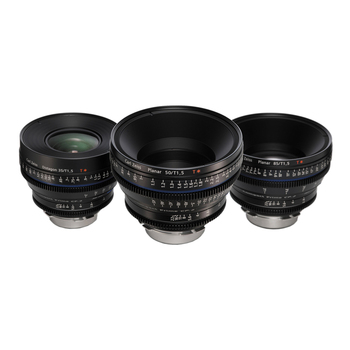 Rent Zeiss Compact Prime CP.2 EF 35mm , 50mm , 85mm  Lens Set