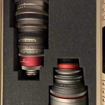 Rent Angenieux 30-90mm T2 EZ-1 & Cinevised Sigma 18-35mm T2, **EF OR PL MOUNT**