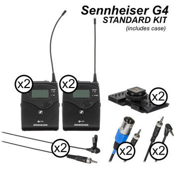 Rent Sennheiser EW-100 G4 Wireless Lavs Set (x2 Mics)