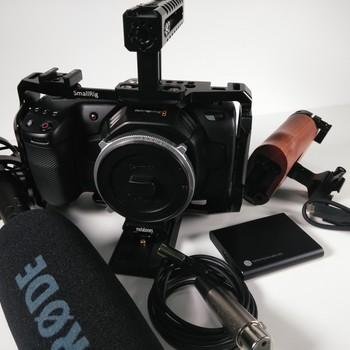 Rent Blackmagick Pocket 4K + Recording Kit + Rode Mic NTG4+