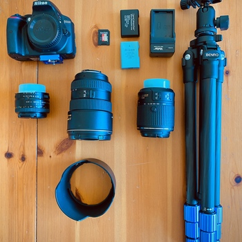 Rent Nikon D3300 with 3 Lenses & Benro Tripod
