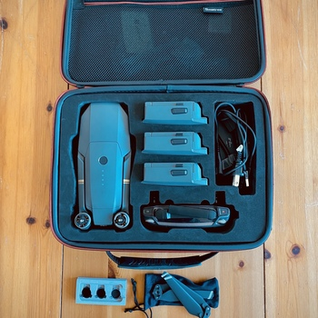 Rent DJI Mavic Pro, controller, batteries and other accessories.