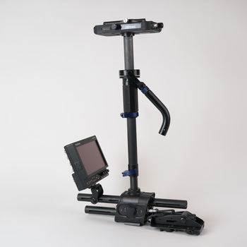 """Rent Steadicam Zephyr Camera Stabilizer with 7"""" HD Monitor + Gold Mount"""