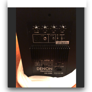 Rent Denon Professional Tri Amplified Speakers DN-508s