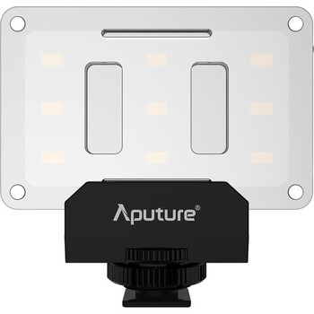 Rent Aputure AL-M9 is a great little light. Comes with full color gel kit, charger, case, and cold shoe 1/4 20 mount