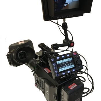 Rent Panasonic VariCam LT 4K S35 Digital Cinema Camera Deluxe Kit with Fujinon 20-120 Cabrio Lens Studio Configuration