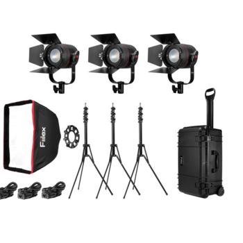 Rent Fiilex K301 Classic 3- light LED Travel Kit