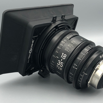 Rent Sigma Cine Zoom 18-35mm T2, *optional PL, EF or Sony E-Mount w/ TANGERINE Matt Box