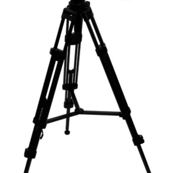 """Rent Magnus VT-4000 Anodized Aluminum Professional Video Tripod System with 2-Way Fluid Head, Extends to 59"""" Max Load 8.8 lb 65mm Half-Ball Mount Mid-Level Spreader. Plus Quick Release Plate, Pan Bar, Case"""