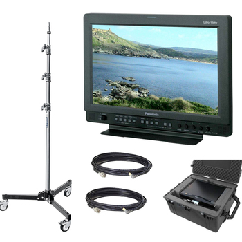"""Rent Panasonic 17"""" Client Monitor (w/Stand, Cables, Gold Mount)"""
