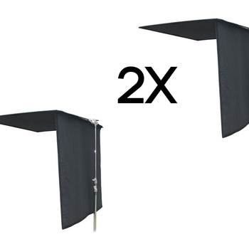 Rent (2x) Matthews 4x4 Black Floppy (extends to 4x8')