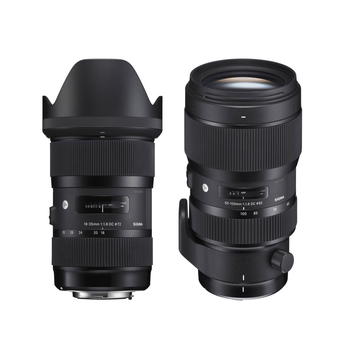 Rent Sigma 18-35mm f/1.8 and 50-100mm f/1.8 DC HSM Art Lenses Kit for Canon EF (Zooms with prime performance)