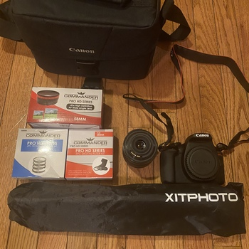 Rent  This camera is bluetooth & WiFi enabled can shoot movies can be adjusted to any setting you desire to snap the perfect moment.comes as a package so you will get a extra lens a few filters and the case to carry the equipment