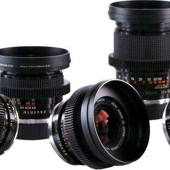 Rent Canon FD SSC Cine Lens Cine Mod Kit 20, 24, 35, 50, 135mm Full Frame