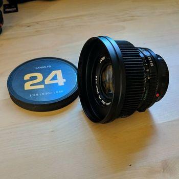 Rent Canon FD S.S.C. 24mm f/2.8 Vintage Full Frame Lens with Cine Mod