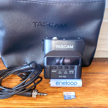 Rent 3 Tascam DR-10L Digital Audio Recorders with Lavalier Mic