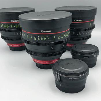 Rent Any (2) Canon CN-e Cinema Prime Lenses + Matt Box for EF or Sony E Mount*