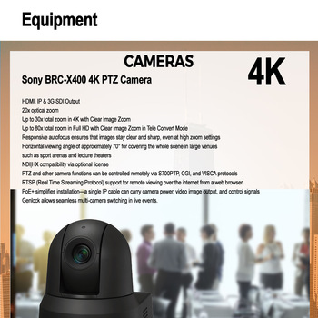 Rent Sony PTZ 4K Cam-- Live Streaming, Remote Control over IP