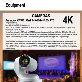 Rent Panasonic 4K PTZ Robotic Camera + Live Streaming, Remote Control over IP