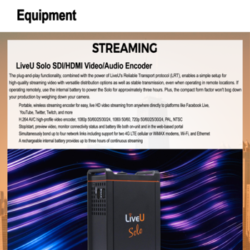 Rent Live U Solo Streaming Device-- Just Plug and Stream to Youtube, Facebook, and More