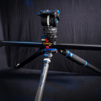 "Rent Tripod & Slider Combo! (31.5"") *Perfect for One-Man-Band Shooters* Konova K5 Cine Slider/Benro Tripod/BV6 Video Fluid Head Kit (w Manfrotto 501PL Style Baseplate)"