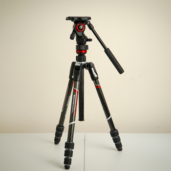 """Rent Manfrotto Befree Live Carbon Fiber Video Tripod Kit with Twist Leg Locks. *Super Compact & Lightweight. (16"""" folded length)*"""