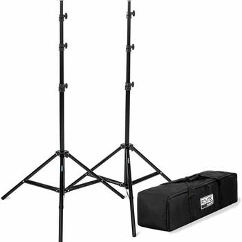 """Rent (2x) Fovitec Photography & Video Light Stands 7'6"""""""