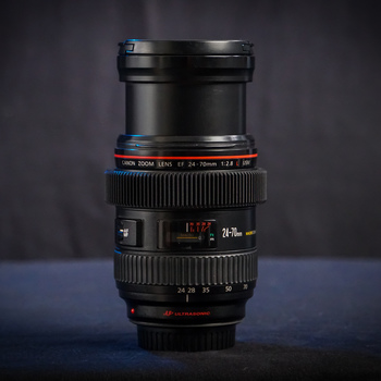 Rent Canon EF 24-70mm f/2.8L USM Zoom Lens w Seamless Follow Focus Gear