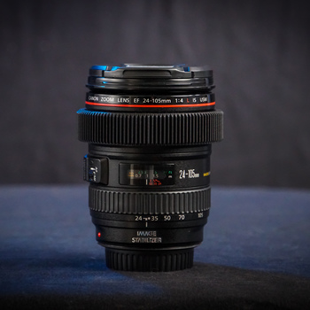 Rent Canon EF 24-105mm f/4L IS USM Zoom Lens w Seamless Follow Focus Gears