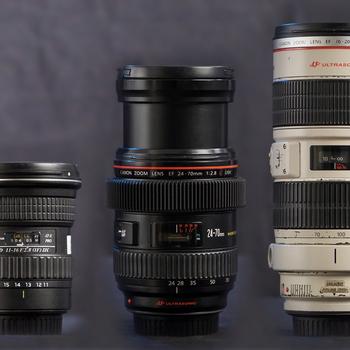 Rent Canon EF-Mount Zoom 3-Lens Kit: (11-16mm f/2.8 DX, 24-70mm f/2.8L, 70-200 f/2.8L IS)