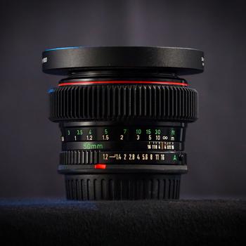 Rent Canon FD 50mm f/1.2L (Cine-Modded EF-Mount) Full-Frame Vintage Cinema Prime Lens