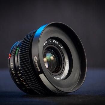 Rent Canon FDn 35mm f/2 (Cine-Modded EF-Mount) Full-Frame Vintage Cinema Prime Lens