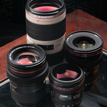 Rent Canon L Series zoom lenses Kit for EF mount