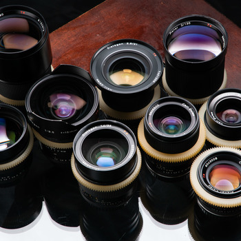 Rent 5 Lens Zeiss Contax cinemoded prime and zoom lens set