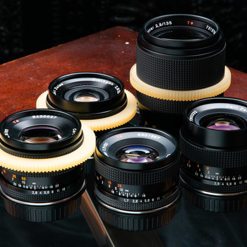 Rent 3 Lens Zeiss Contax cinemoded prime and zoom set
