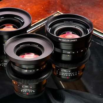 Rent Voigtlander Nokton MFT Prime Lens set, 10.5mm, 17.5mm, 25mm, 42.5mm, 60mm w/ Kowa Prominar 8mm and 12mm Duclos cinemoded