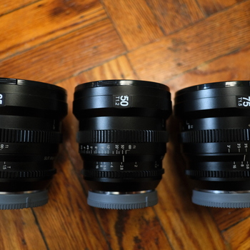 Rent SLR Magic MicroPrime Cine 3 lens kit (Full Frame E-mount): 25mm, 50mm, 75mm