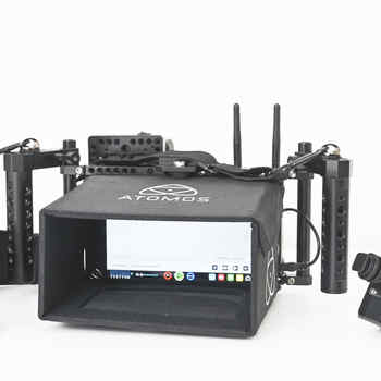 """Rent Directors Monitor Kit with 7"""" Atomos Monitor,  transmitter, receiver and 2x V mount batteries"""