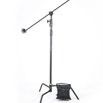 """Rent C-Stand  95"""" Maximum Height, 2-1/2"""" Grip Head & 36"""" Arm with sand bag"""