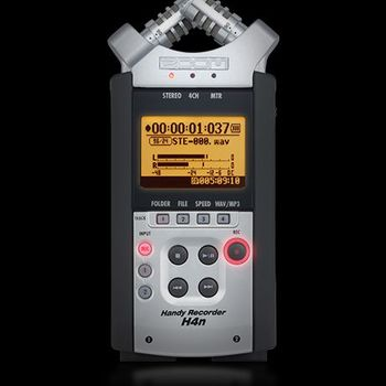 Rent Zoom H4n Recorder w/ Shotgun Mic, Condenser Mic and Cables