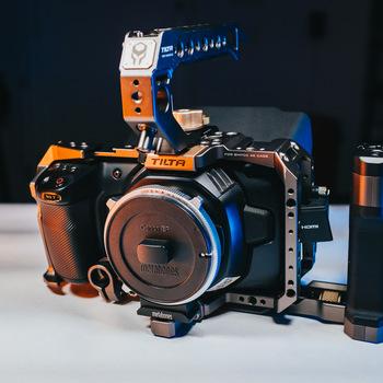 Rent Black Magic Pocket Cinema Camera 4K + EF Speedbooster + 256GB CFAST Card + 6 Batteries + Cage Kit