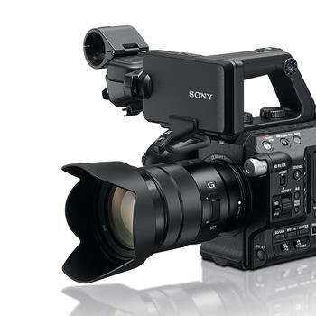 Rent Sony FS5 with Cine Lens, sennheiser mic