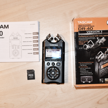 Rent Tascam DR-40 with 8GB storage