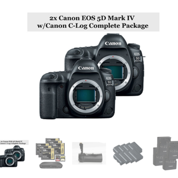 Rent 2x Canon EOS 5D Mark IV w/Canon C-Log Complete Package