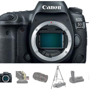 Rent Canon 5D Mark IV w/Canon C-Log + 24-70 Lens/Tripod Package