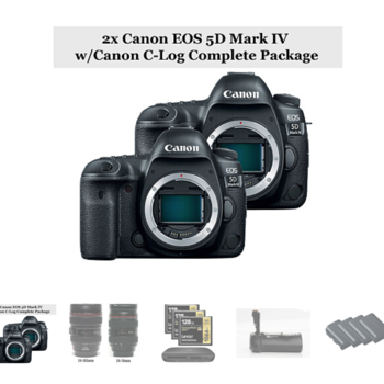 Rent 2x Canon EOS 5D Mark IV w/Canon C-Log + 2x Lens Package