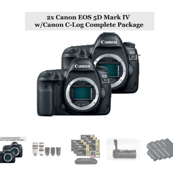 Rent 2x Canon EOS 5D Mark IV w/Canon C-Log + 5x Zoom Package